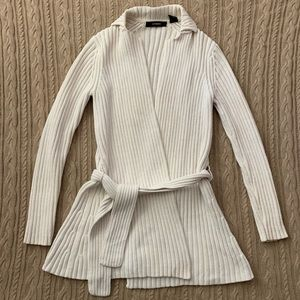 ⭐️3/$25⭐️ Express Cream Belted Knit Sweater